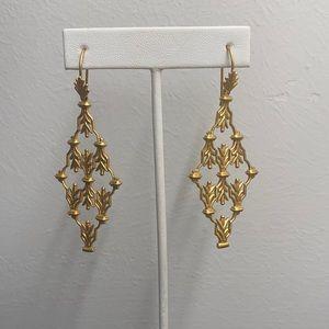 NEW Julie Vos Chandelier Dangle Earrings - Gold